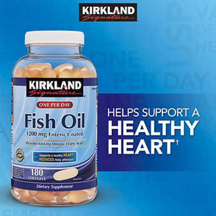 Description: Description: Description: Description: Description: Kirkland Signature Fish Oil 1200 mg., 180 Enteric Coated Softgels